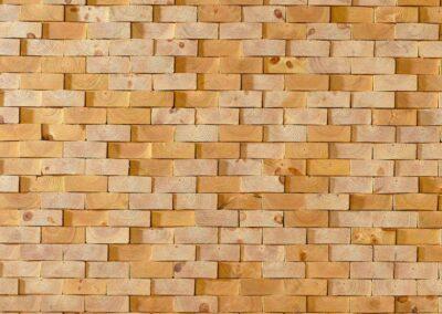 Wall decoration of solid raw wood blocks (NORTO Skov 135)
