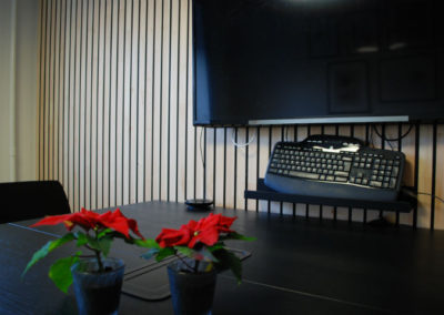 NORTO Bech vægbeklædning, 24 mm. Mødelokale i Ordrestyring, København
