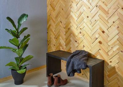 NORTO Leth vægdekoration i genbrugsmaterialer i træ