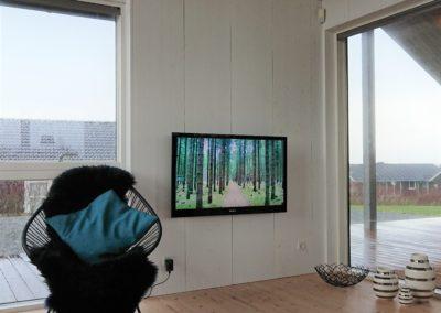 Førbillede af tv-stue i sommerhus, Lemvig