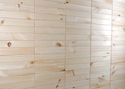 NORTO Leth dekoracja ścienna z listew drewnianych z prostymi łączeniami