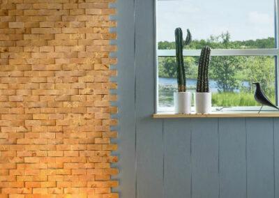 NORTO Friis vægdekoration med lyseblå maling