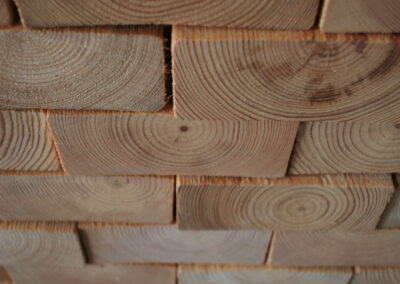 Face blocks of solid pine wood
