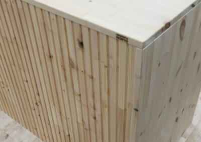 NORTO KitchenUP - Bæredygtigt trækøkken med listebeklædning på bagsiden