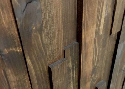 NORTO Munk - Ubehandlede trælameller til vægdekoration i træ