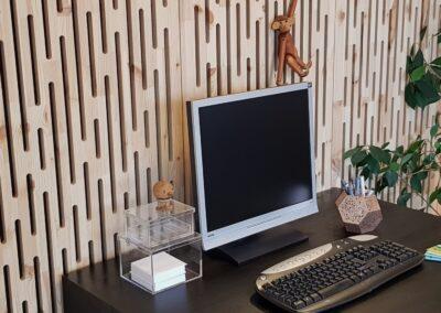 NORTO Toft akustikpaneler som lydvæg i kontor