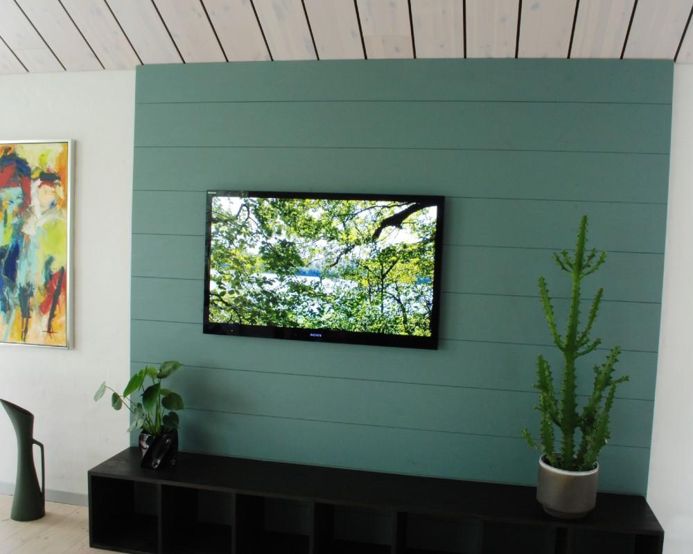 NORTO Friis vægbeklædning i resttræ i stuemiljø