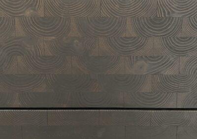 NORTO KitchenUP køkkenfront. Skuffefront af endetræ, sort. Frontmodel: Gro