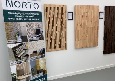 NORTO showroom med vareprøver