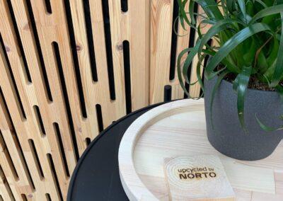 NORTO Toft akustikpanel i træ som vægbeklædning