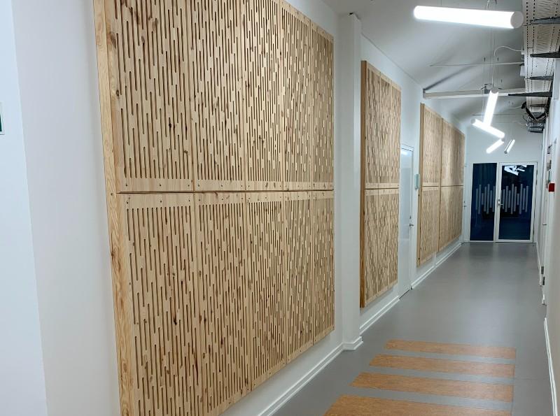NORTO Toft akustikpaneler som en specialdesignet vægdekorations hos Sound Hub Denmark
