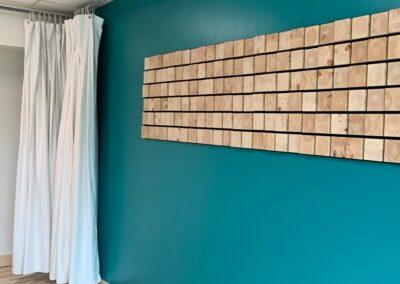 Sound Art Lab lydstudie med NORTO Holm vægdekoration